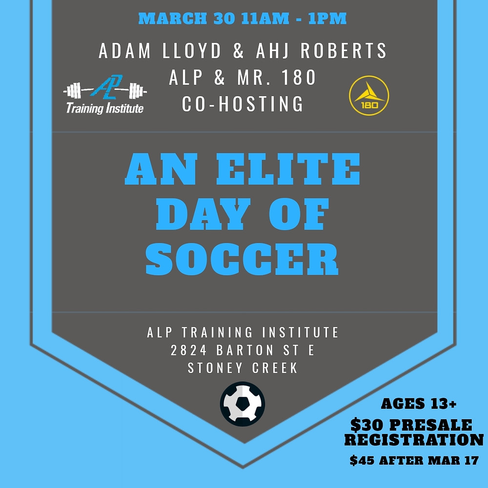 Elite Day of Soccer with Adam Lloyd and Ahj Roberts