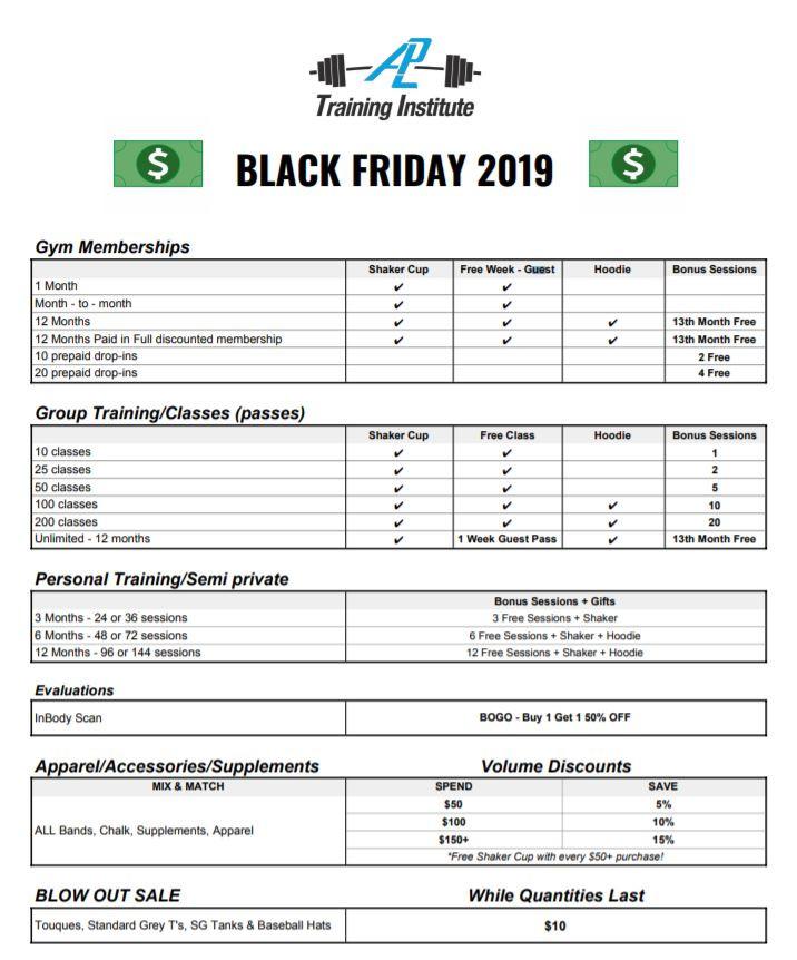 2019 Back Friday Deals at ALP-TI