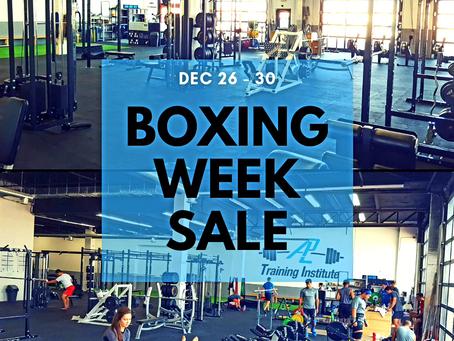 Boxing WEEK Sales Dec 26th - 29th