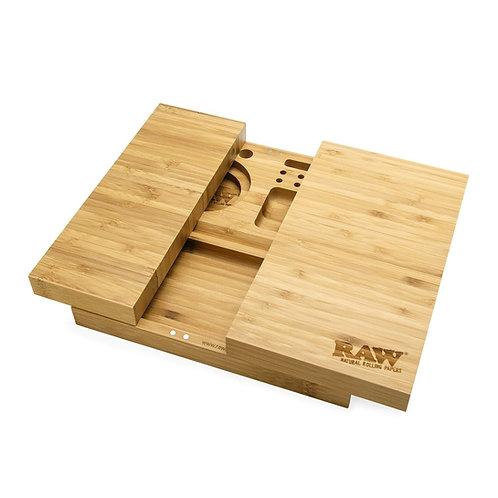 Raw triple flip rolling tray