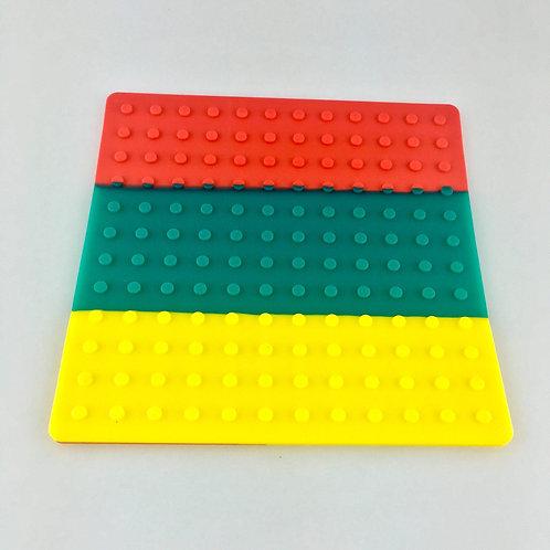 BudderBlocks Silicone Mat - Rasta