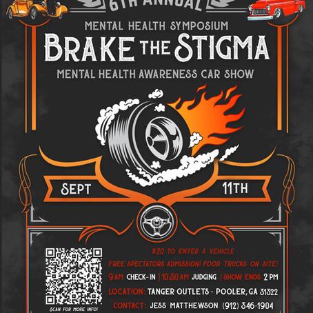 'BRAKE THE STIGMA' MENTAL HEALTH AWARENESS CAR SHOW TO BENEFIT COMMUNITY NONPROFITS