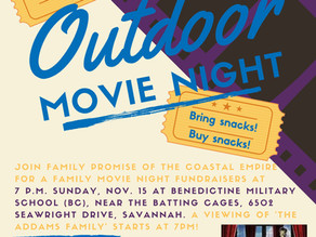 FAMILY PROMISE TO HOLD OUTDOOR FAMILY MOVIE NIGHT NOV. 14 AT BC IN SAVANNAH