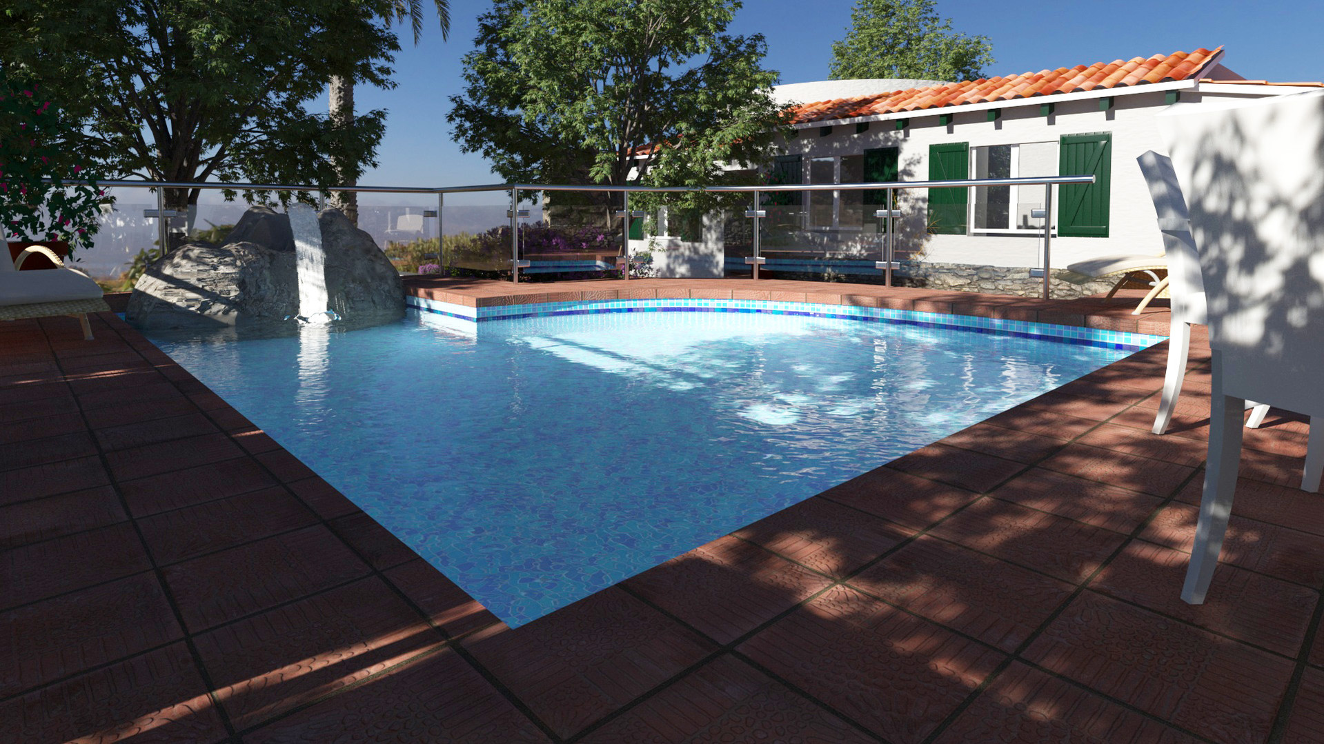 House in Calan Porter. Pool extension