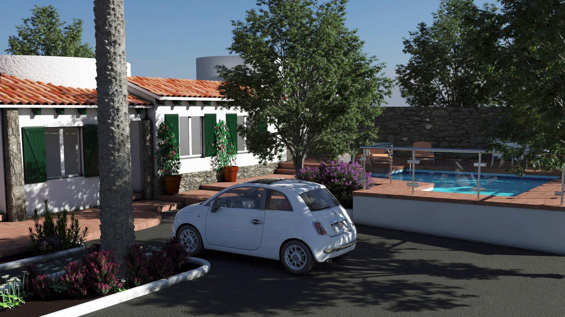 Calan Porter Villa view from street