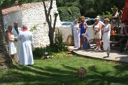 Wedding Ceremony in our garden