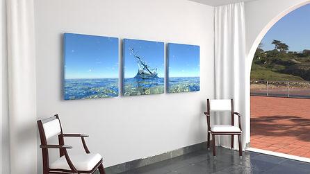 Sea_01-triptych 1m x 1m square