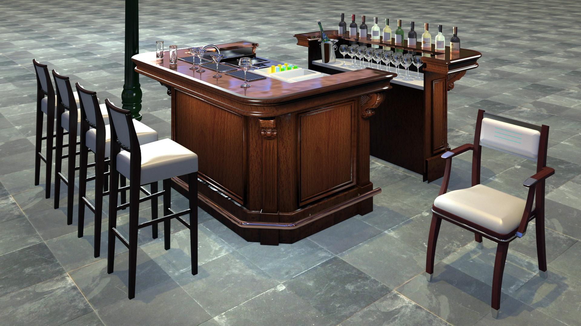 Mobile Cocktail Bar. St Tropez