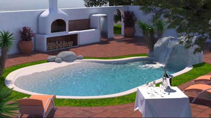 Beach pool concept