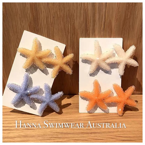 MIMO Starfish Hair Barrettes (each)