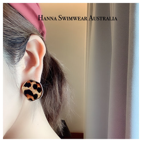 PANTHERA Leopard Round Earrings