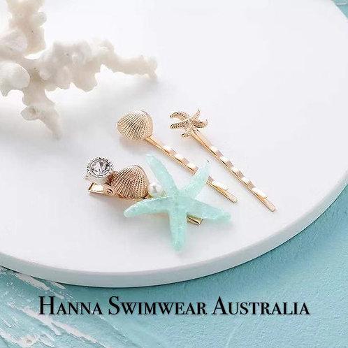 LAVANA Starfish Hair Clip 3 IN SET