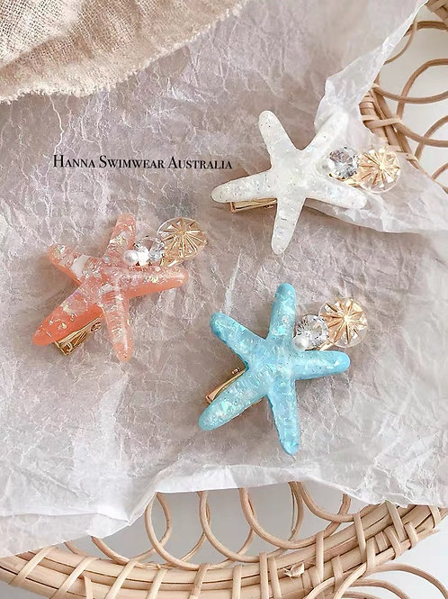 SALTY GIRL star fish hair clip (each)