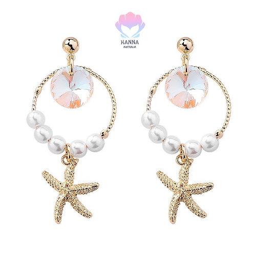 Asterías-Pearla S925 Silver Earrings