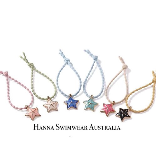 ASTEROIDEA Sea Star Hair/Hand Tie (each)