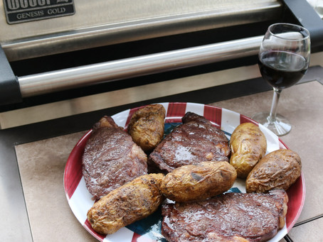 Grilled Red Wine Marinated Rib Eyes