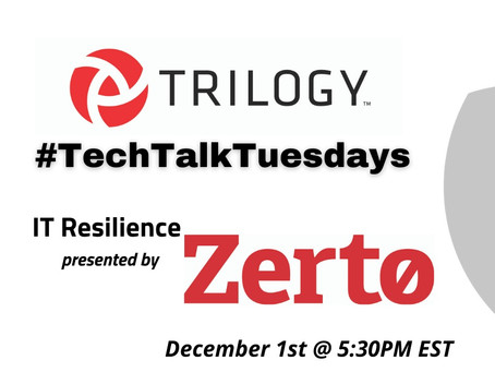 #TechTalkTuesday IT Resilience with Zerto