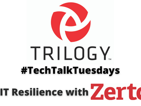 Live Recording of TechTalkTuesday - IT Resilience with Zerto