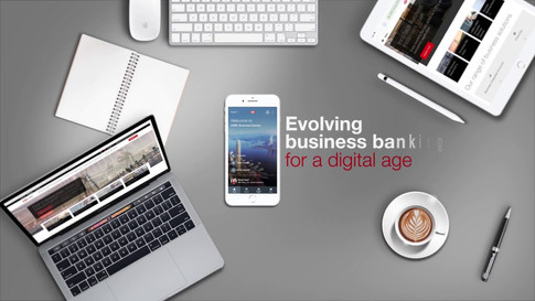 HSBC Mobile App Promotion Graphic Opening