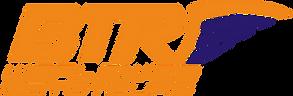 Logotipo BTR motos DUOTONO NARANJA AZUL.