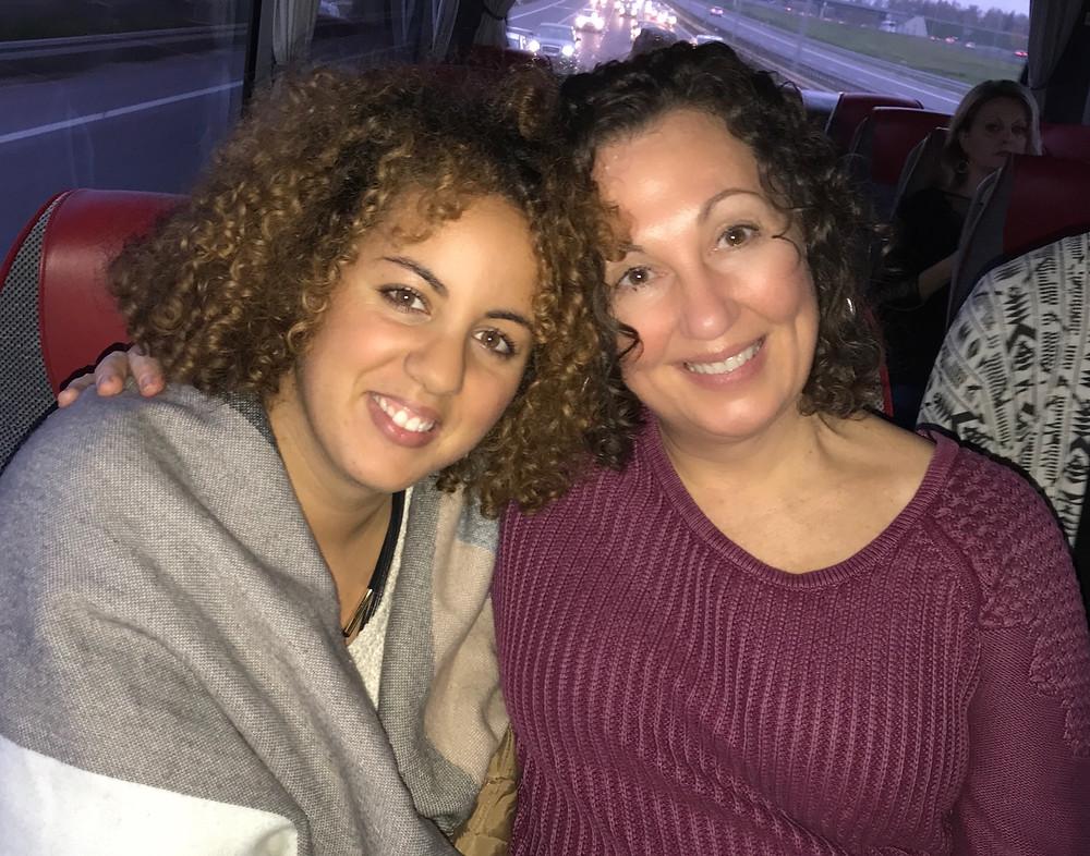 Meredith with Expo roomie Tassadit Celia Zenna