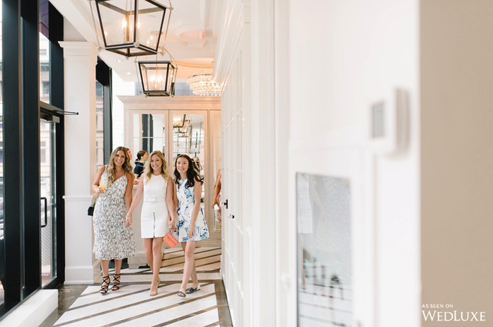 Chelsea's Bridal Shower at The Chase Restaurant. As seen on WedLuxe.