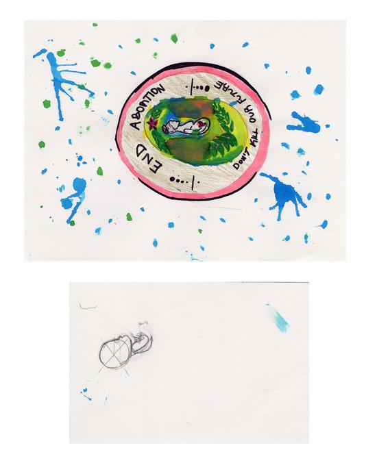 Project: Propaganda Art Creation Date: 2020 Medium: graphite, marker and acrylic paint School: Canton Preparatory High School Grade: 9th-12th grade Description: created on the Education Day