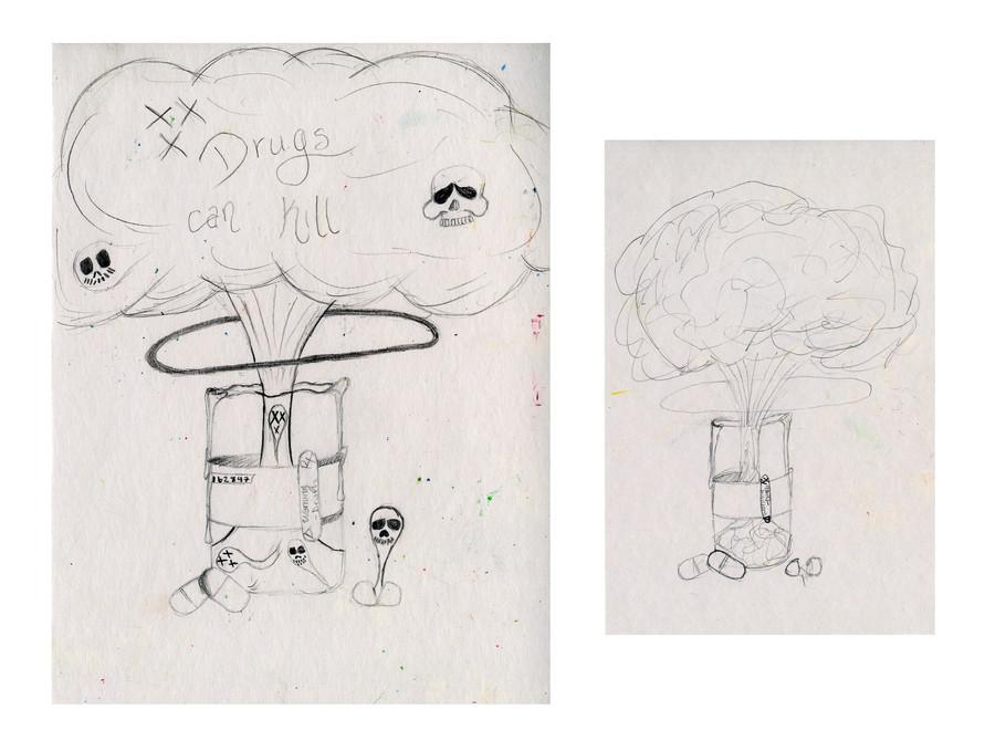 Project: Propaganda Art Creation Date: 2020 Medium: graphite and marker School: Canton Preparatory High School Grade: 9th-12th grade Description: created on the Education Day