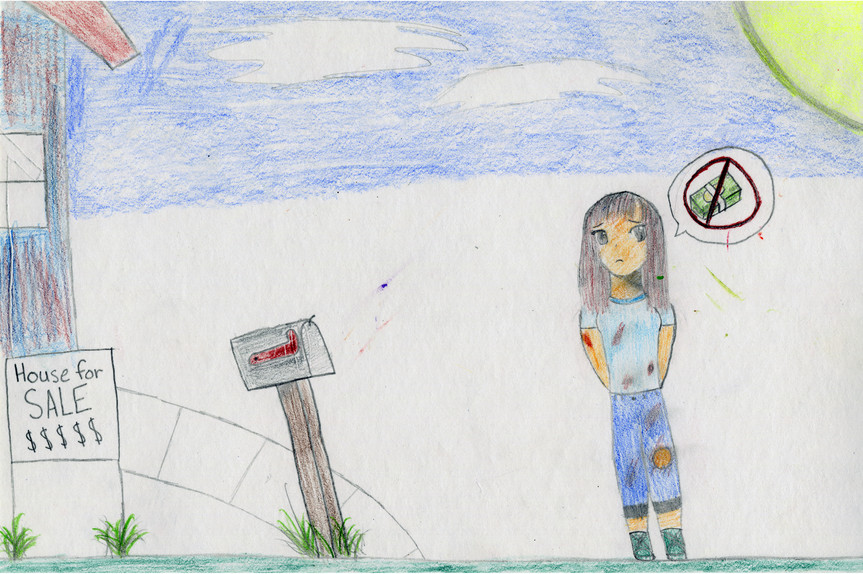 Project: Propaganda Art Creation Date: 2020 Medium: color pencil, oil pastel, marker and acrylic paint School: Crossroads Charter Academy Grade: 9th-12th grade