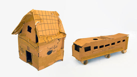 Project: Places Creation Date: 2020 Medium: cardboard School: William C. Abany Academy Grade: 7th-8th grade Description: created on the Education Days