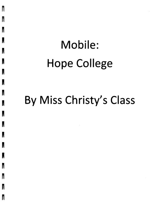 Booklet of Mobile: Hope College