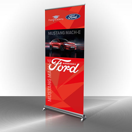 Ford Aca rollupbanners Mustang Mach E.jp