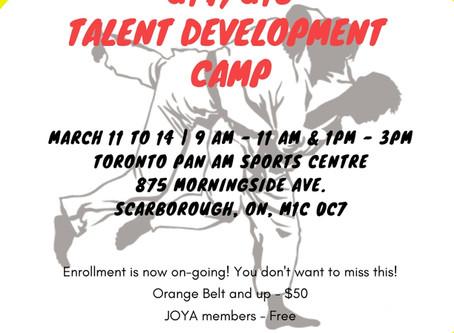 2019 Judo Ontario Talent Development Camp