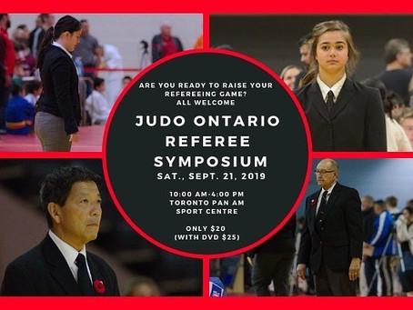 Judo Ontario Referee Symposium