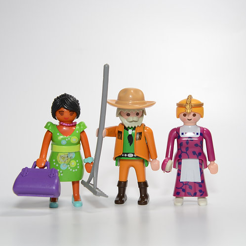 Mixed Playmobil figures
