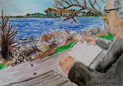 Ed on the shores of Lake Mendota