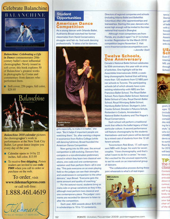 POINTE Magazine, Oct/Nov 2009