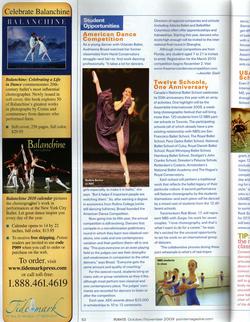 POINTE Magazine, Oct/Nov 2009