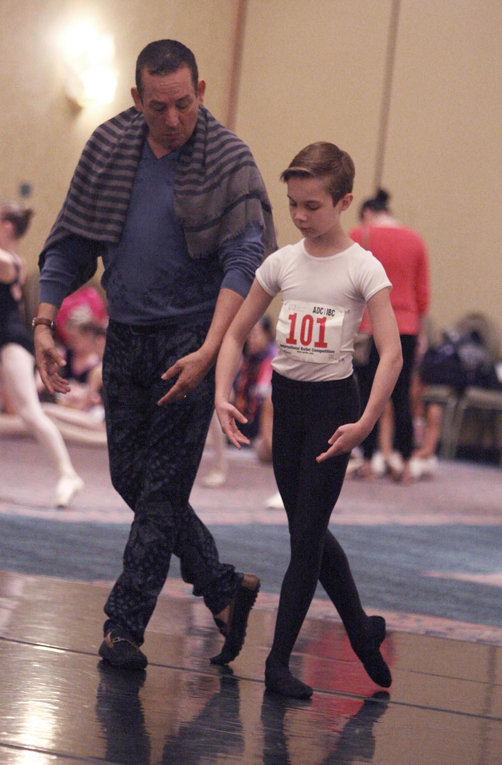 Claudio Munoz with 2016 HBA Scholarship Recipient Brady Farrar of Stars Dance Studio. Photo by Scott Gill.
