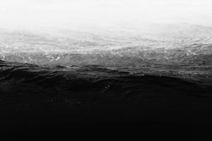 Waves crashing on sea shore