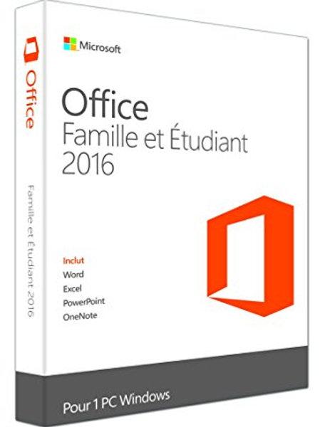 Logiciel Suite bureautique Microsoft Office Famille/Etudiant 2016