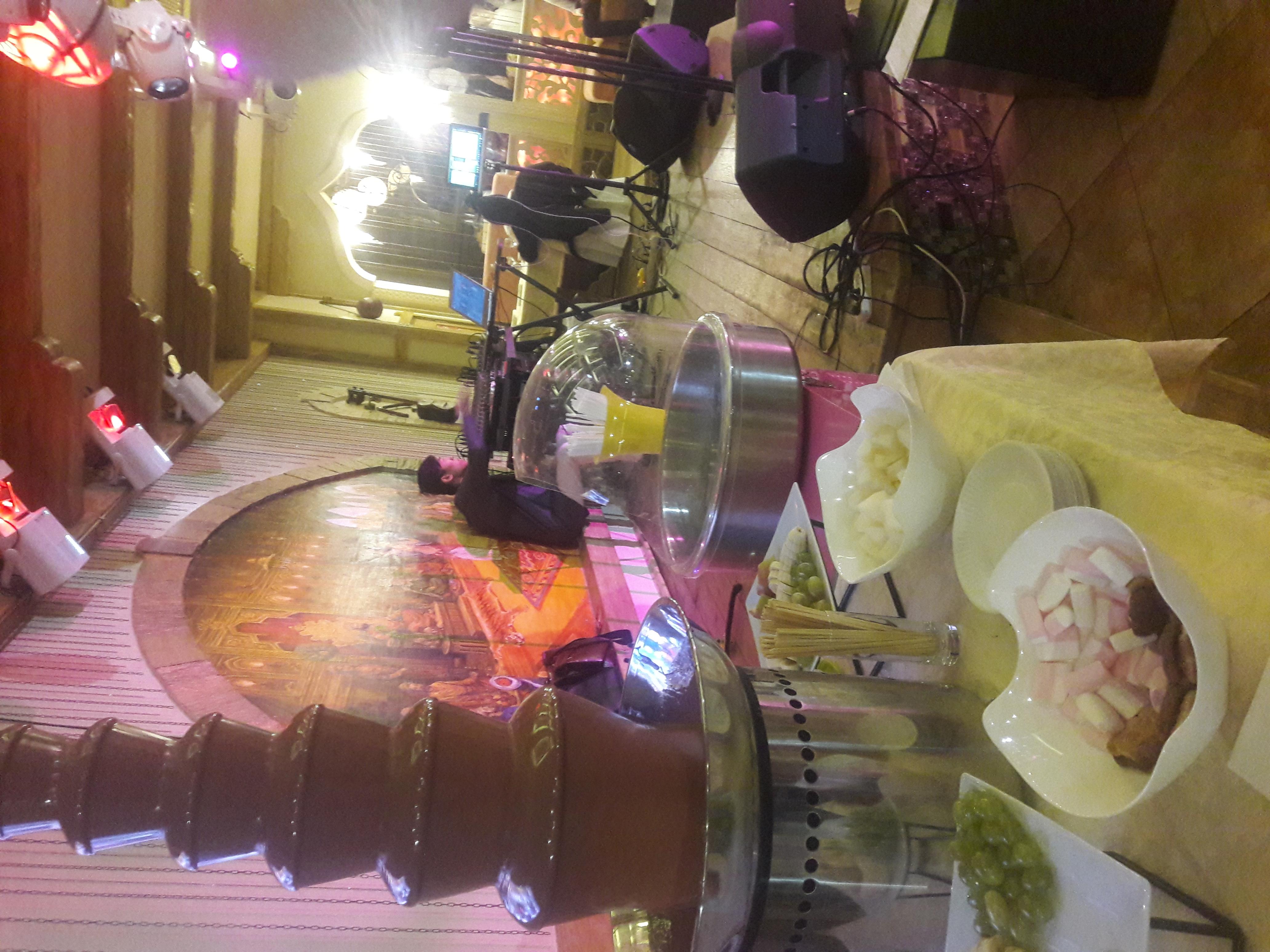 Шоколадный фонтан на праздник