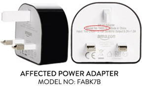 Amazon Fire Tablet Chargers Recalled