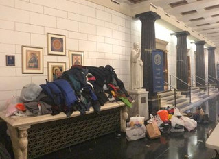 Colvin Cleaners Gets Help with Coats 4 Kids from Canisius High School