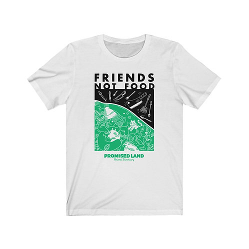 Unisex Short-Sleeve Tee – Friends Not Food (Two-Tone)