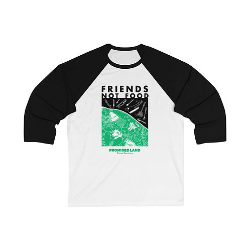 Unisex Baseball Tee – Friends Not Food