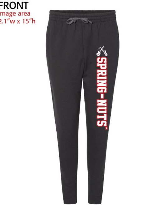 NEW!! SPRING-NUTS (TM) EMBROIDERED JOGGER SWEATPANTS ADULT 7.2 OZ