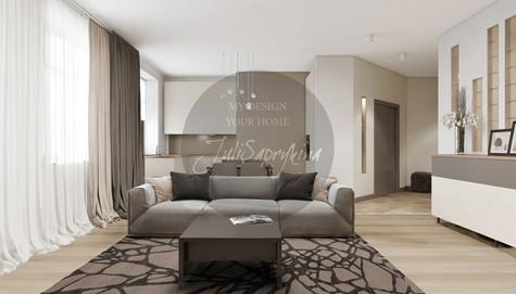 Дизайн трёхкомнатной квартиры на Сухаревской