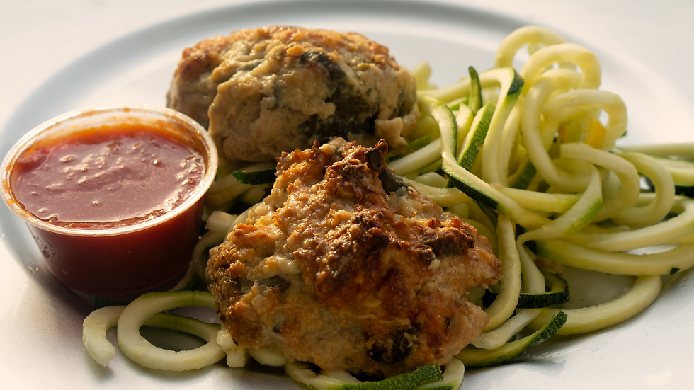 Chicken Meatballs w/Zoodles