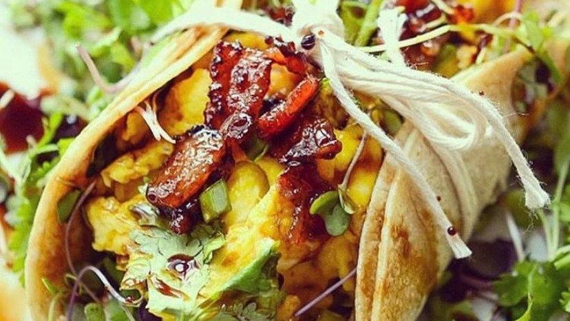 Brown Rice Tortilla Breakfast Wrap